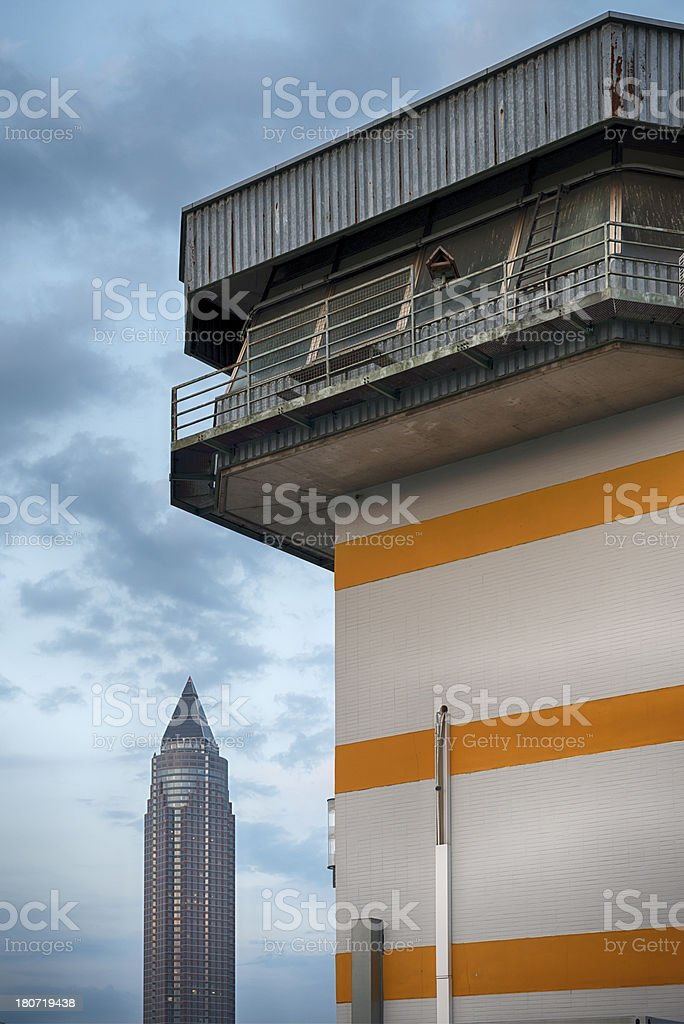 Messe Tower and Railway Control Center royalty-free stock photo