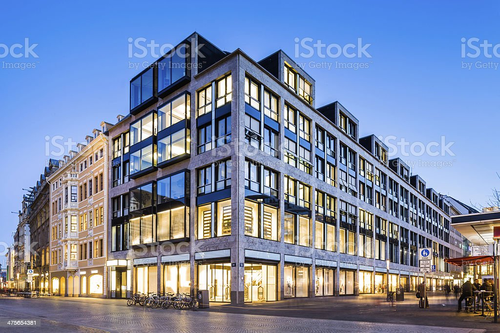 Messehaus Am Markt, Leipzig, Germany stock photo