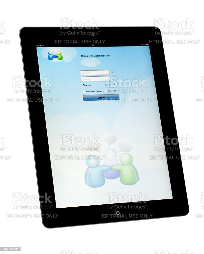 MSN Messenger App royalty-free stock photo