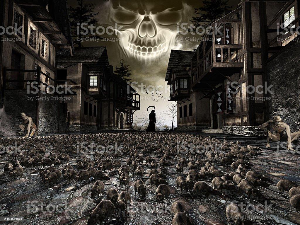Messengers of Black Death stock photo
