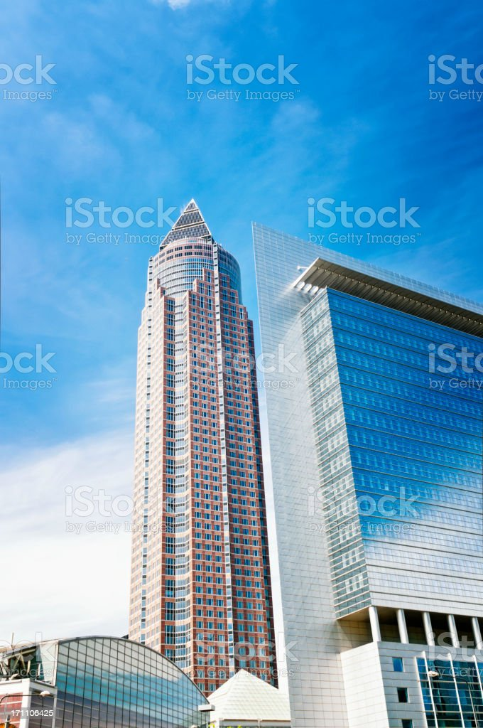 Messeturm in Frankfurt am Main royalty-free stock photo