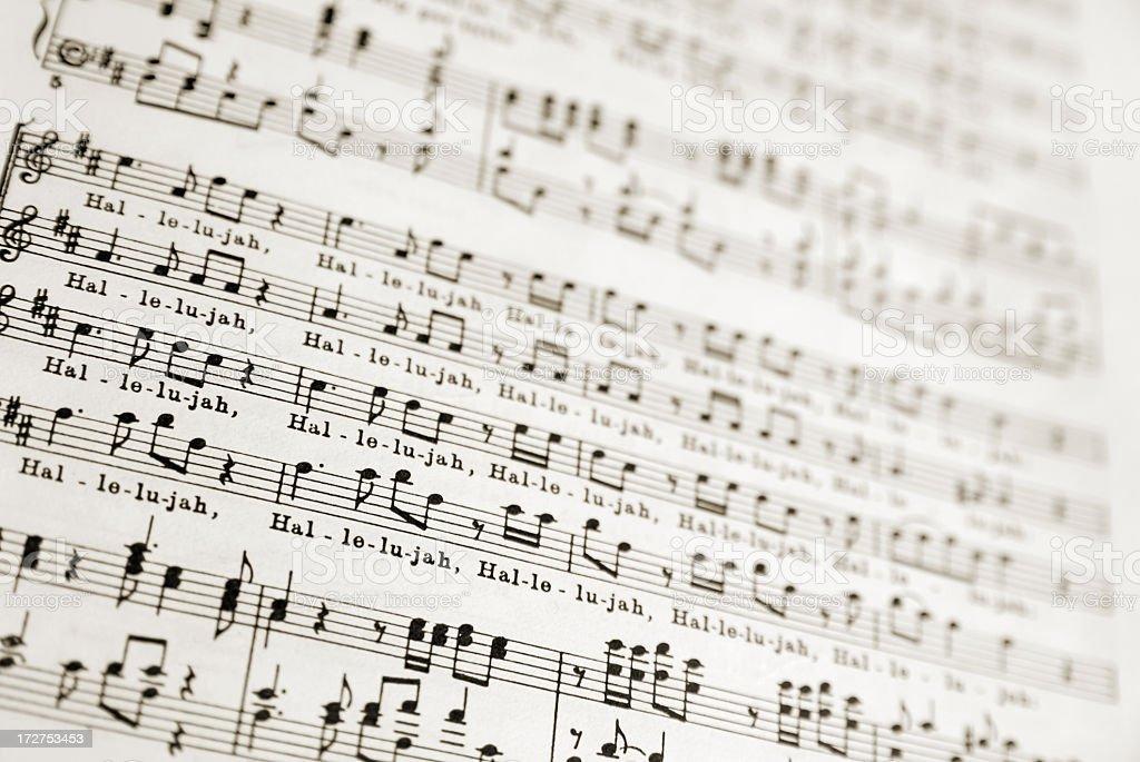 Messiah Hallelujah Sheetmusic royalty-free stock photo