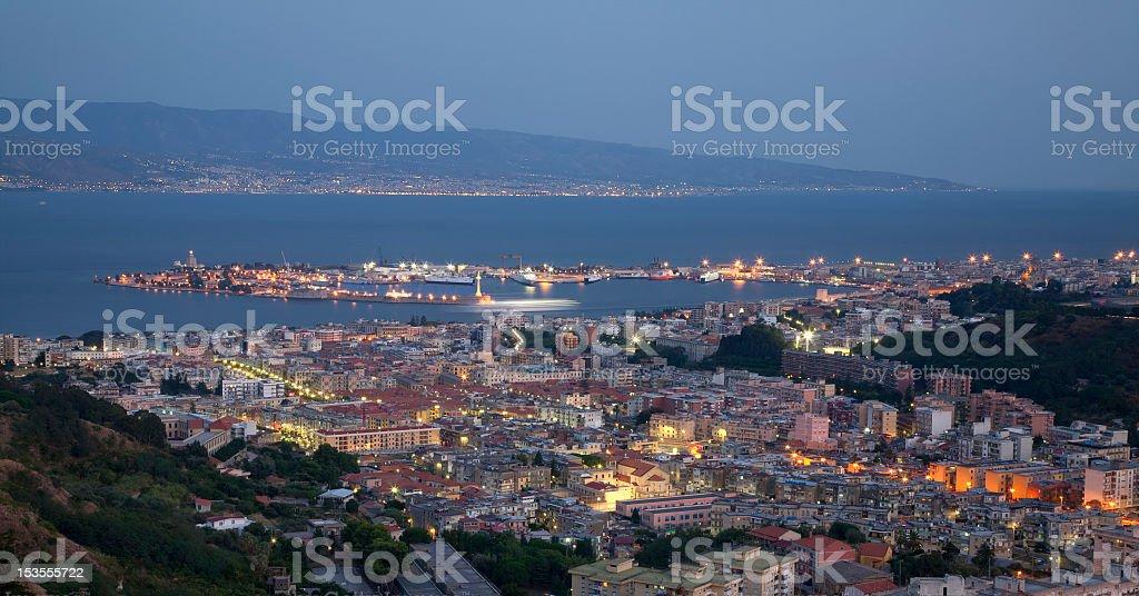 Messina, a city-port stock photo