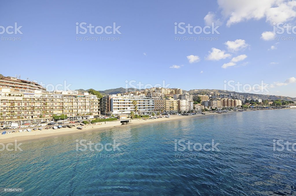Messina and the strait stock photo