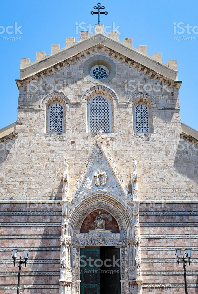 Messina Cathedral in Messina, Italy stock photo