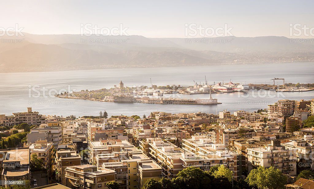 Messina channel stock photo