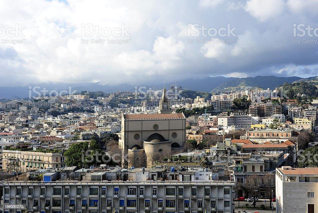 Messina cityscape stock photo