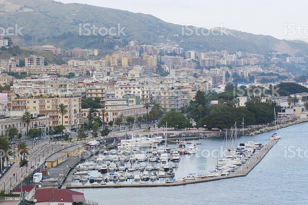 Messina harbour stock photo