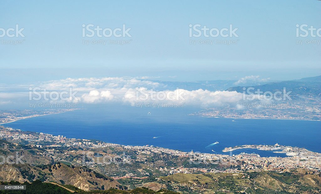 Messina panoramica stock photo
