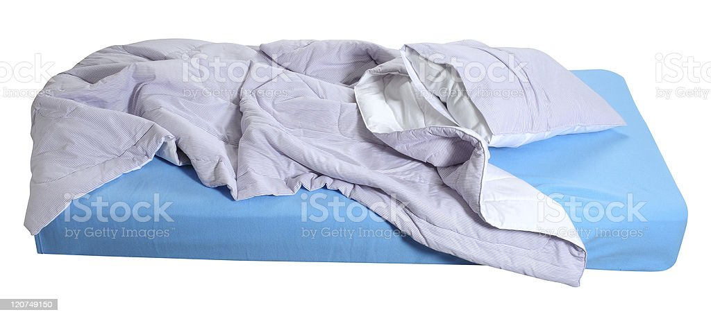 Messy bed. royalty-free stock photo