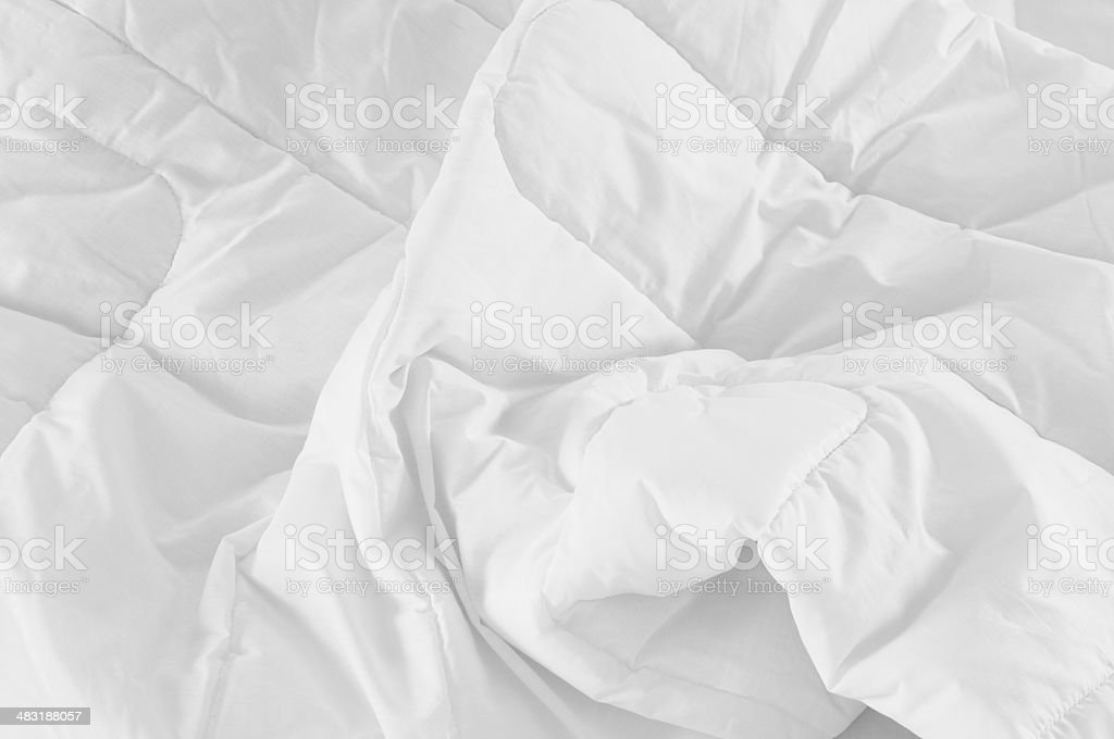 Messy bed. stock photo