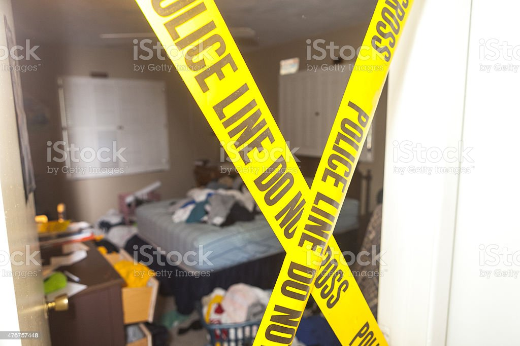 Messy bedroom stock photo