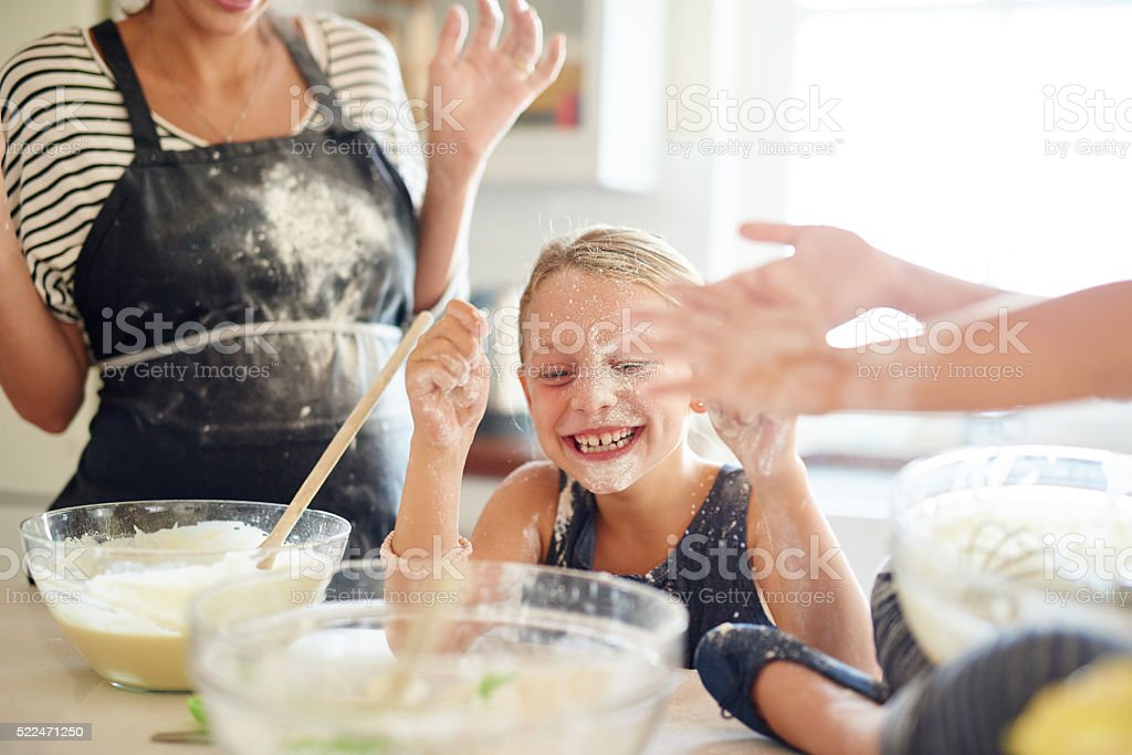 Messy but delicious! stock photo