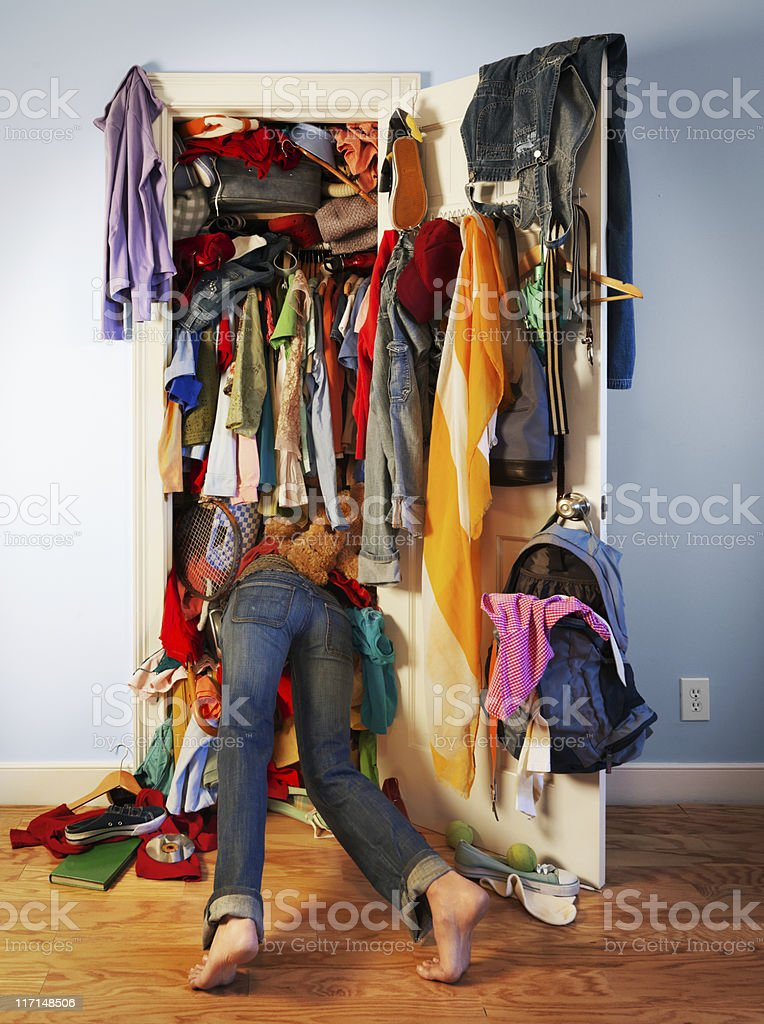 Messy Closet stock photo