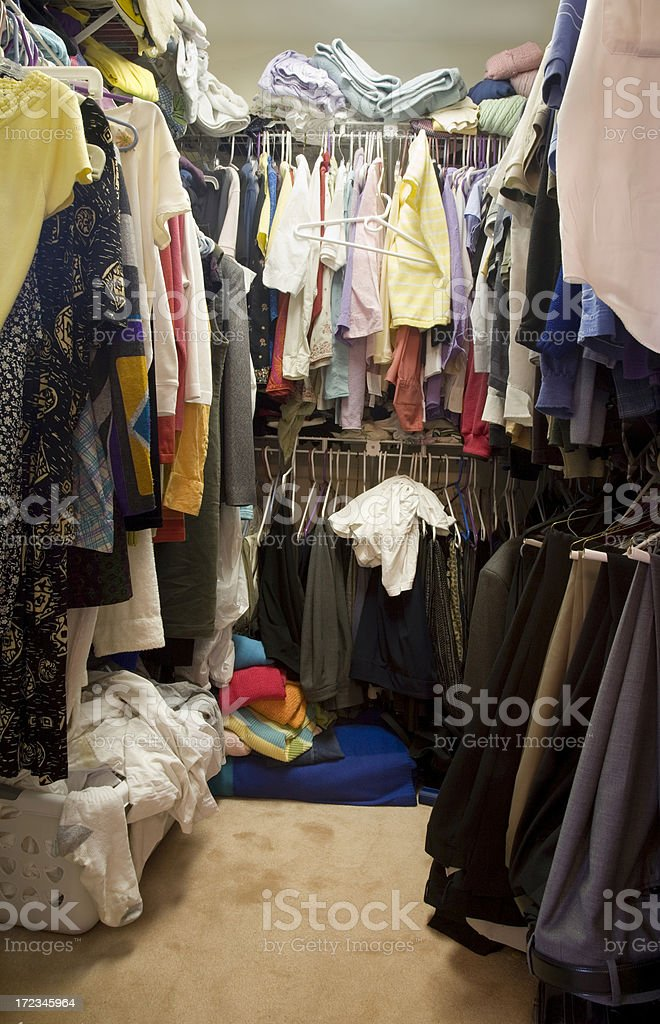 Messy Closet royalty-free stock photo