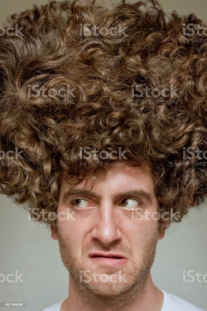 Messy Curly Hair stock photo