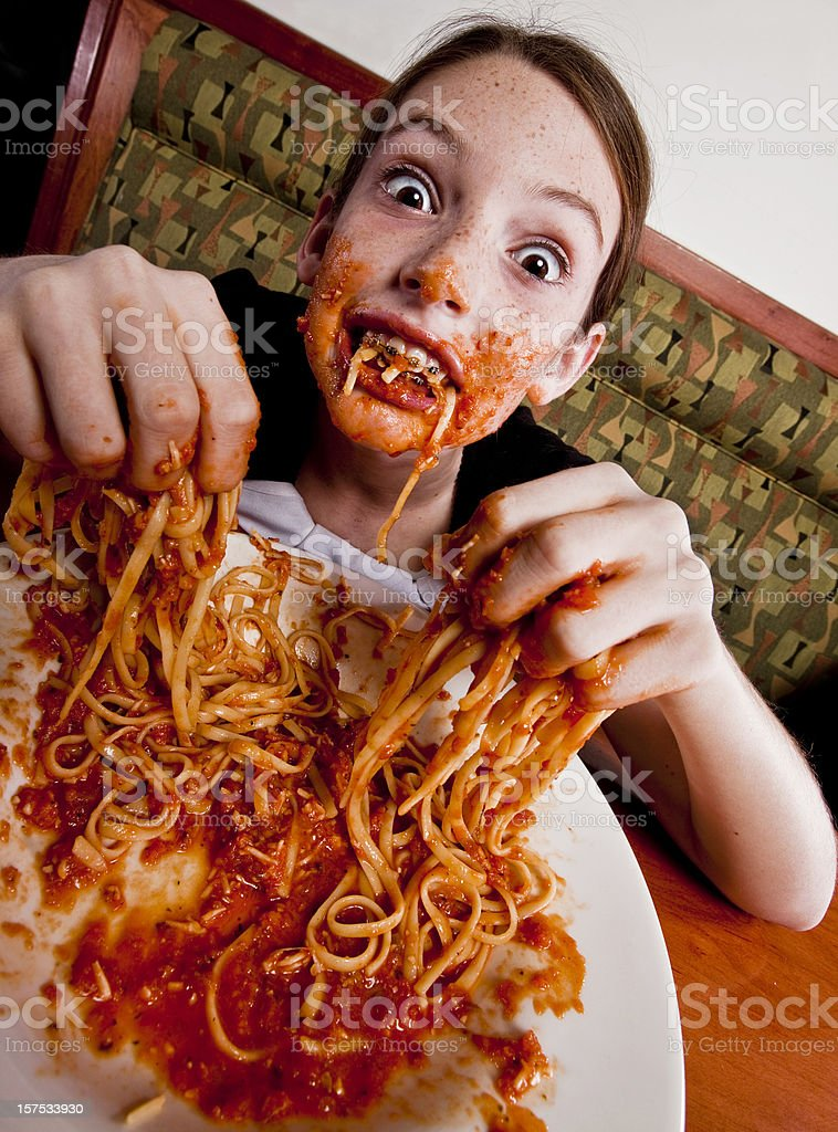 Messy eater royalty-free stock photo
