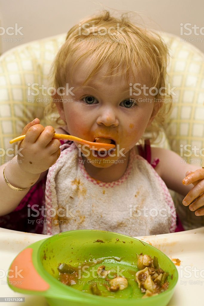 Messy Eating royalty-free stock photo