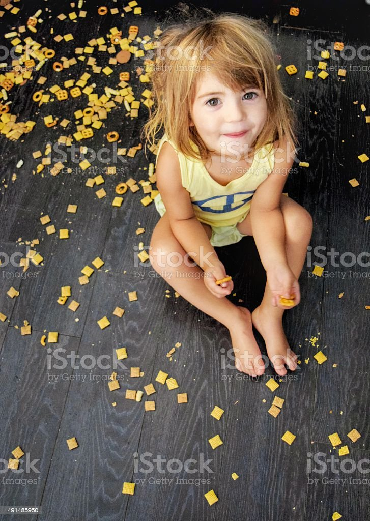 Messy girl stock photo