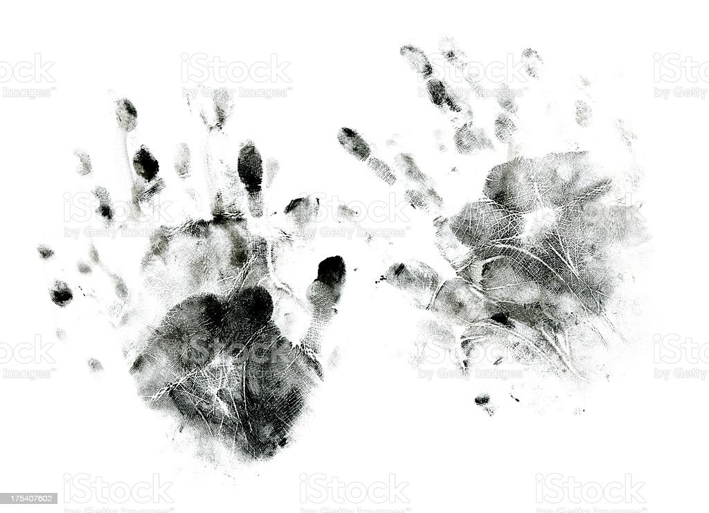Messy Handprints stock photo