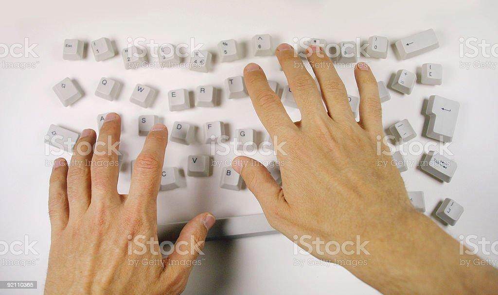 messy keyboard stock photo