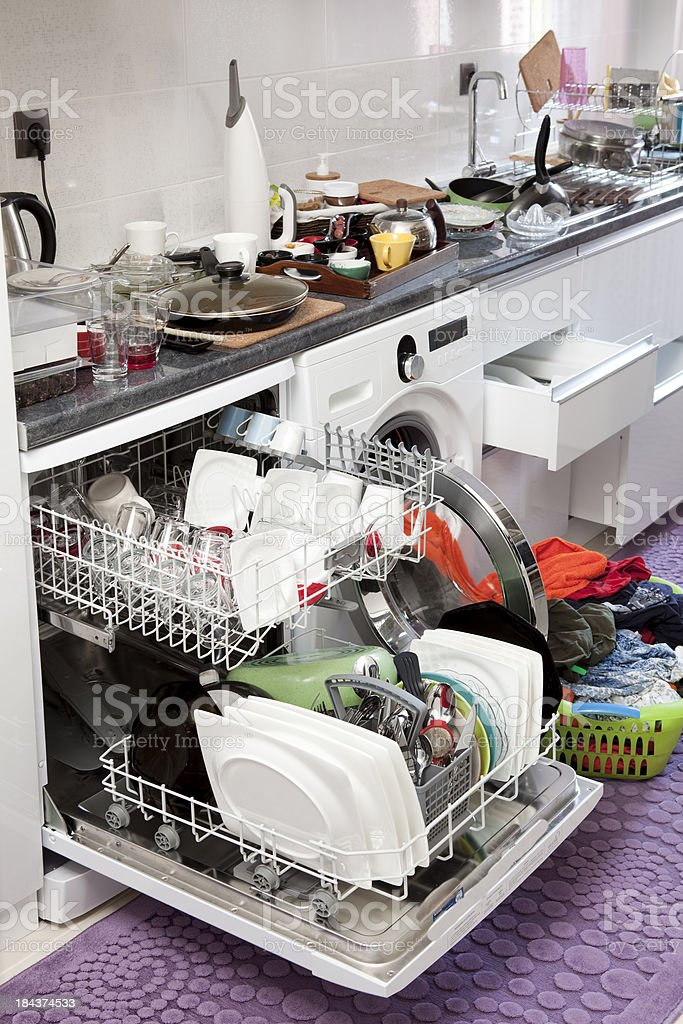 messy kitchen royalty-free stock photo