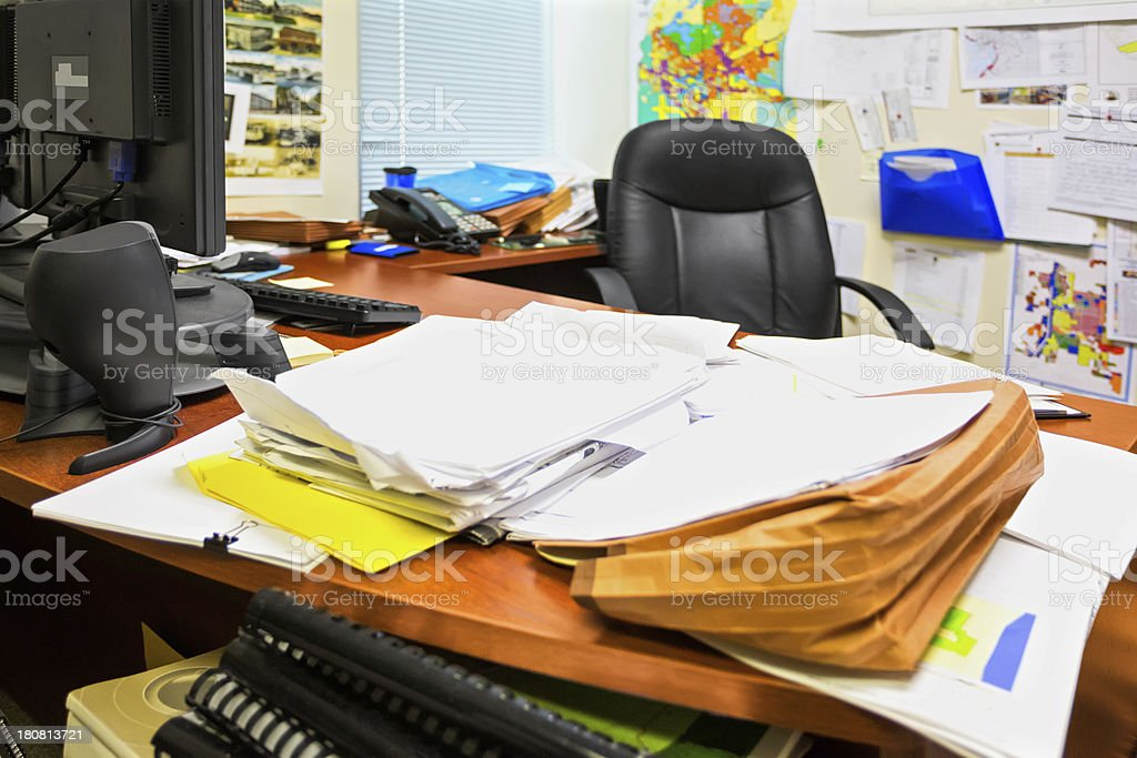 Messy office stock photo