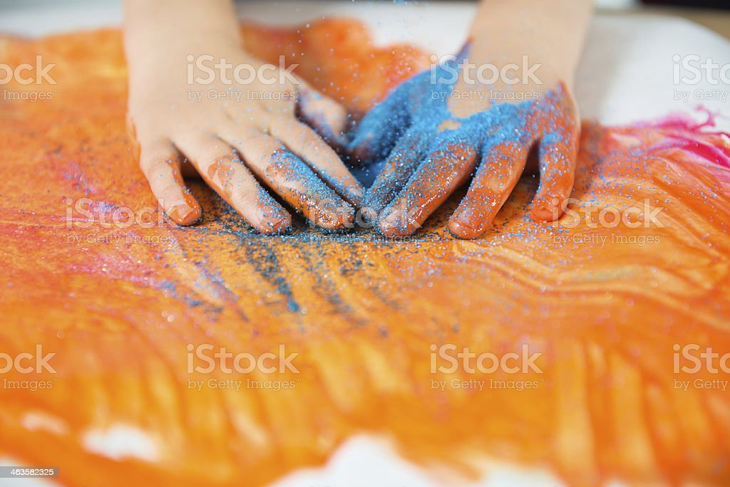 messy paint royalty-free stock photo