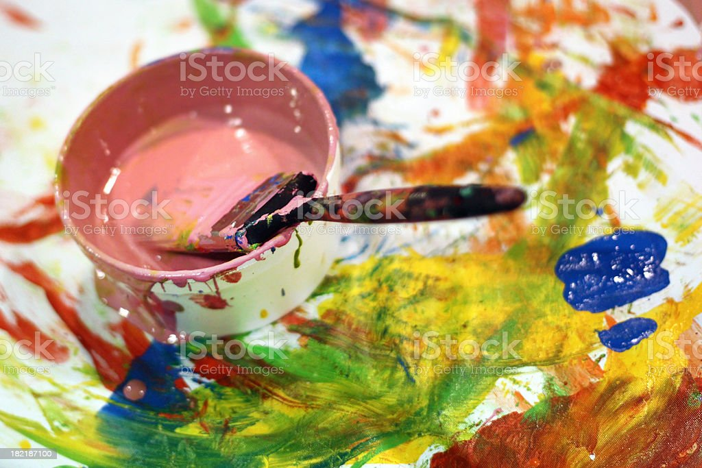 Messy Paints royalty-free stock photo