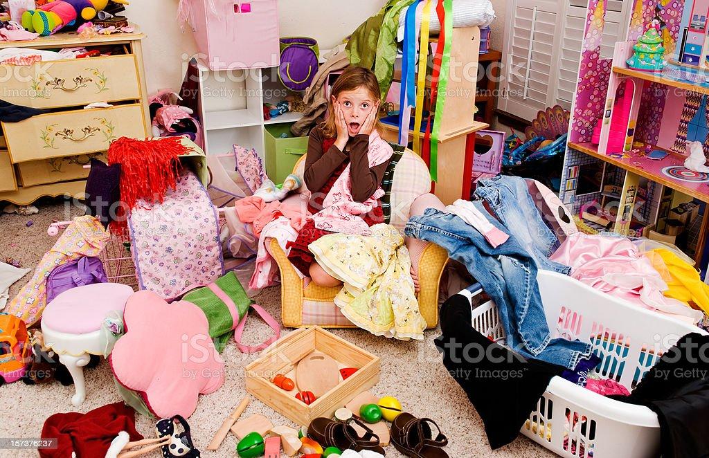 Messy room royalty-free stock photo