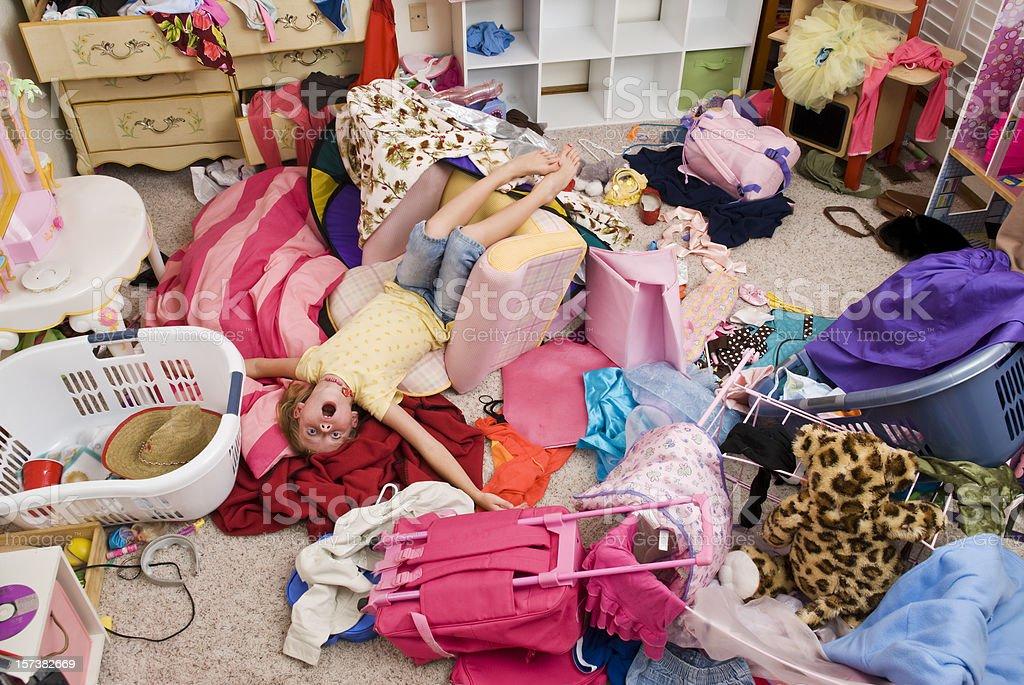 Messy Room stock photo