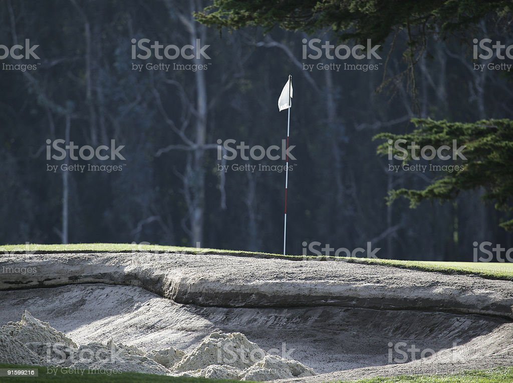 Messy Sand Trap royalty-free stock photo