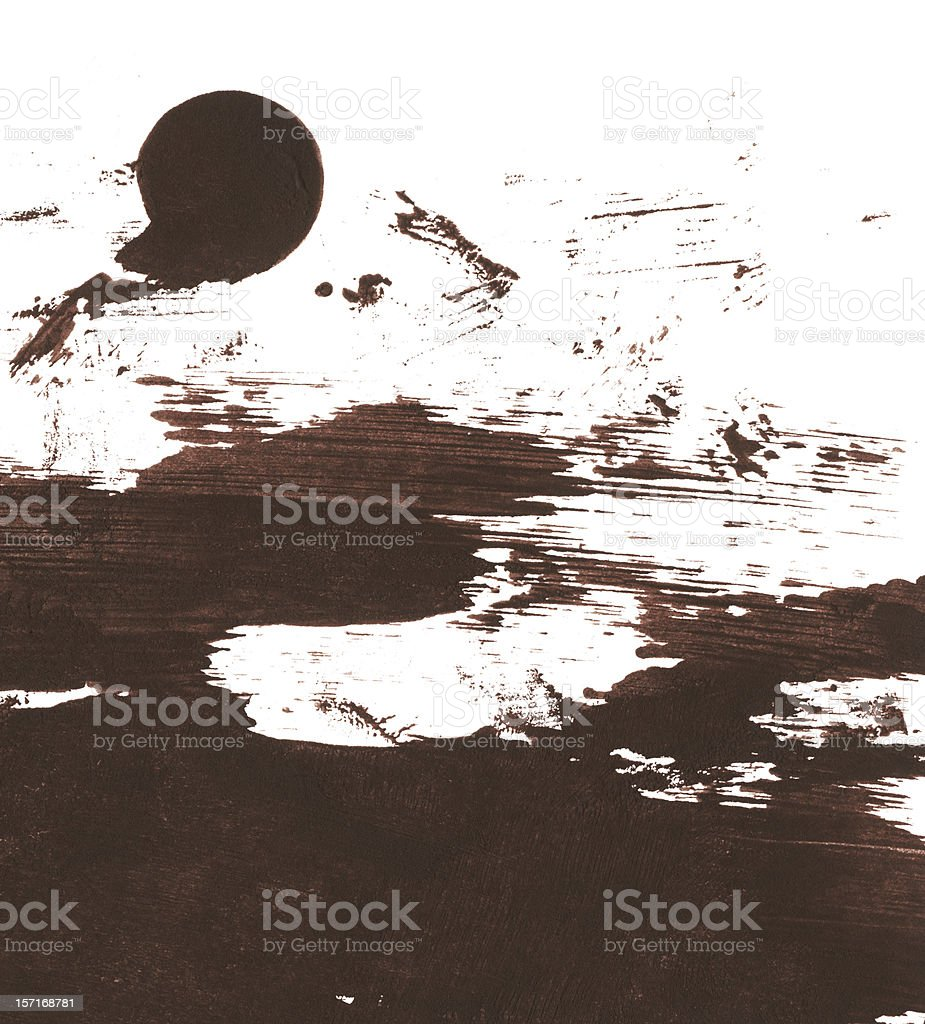 Messy Tan Brown Paint Mess royalty-free stock photo