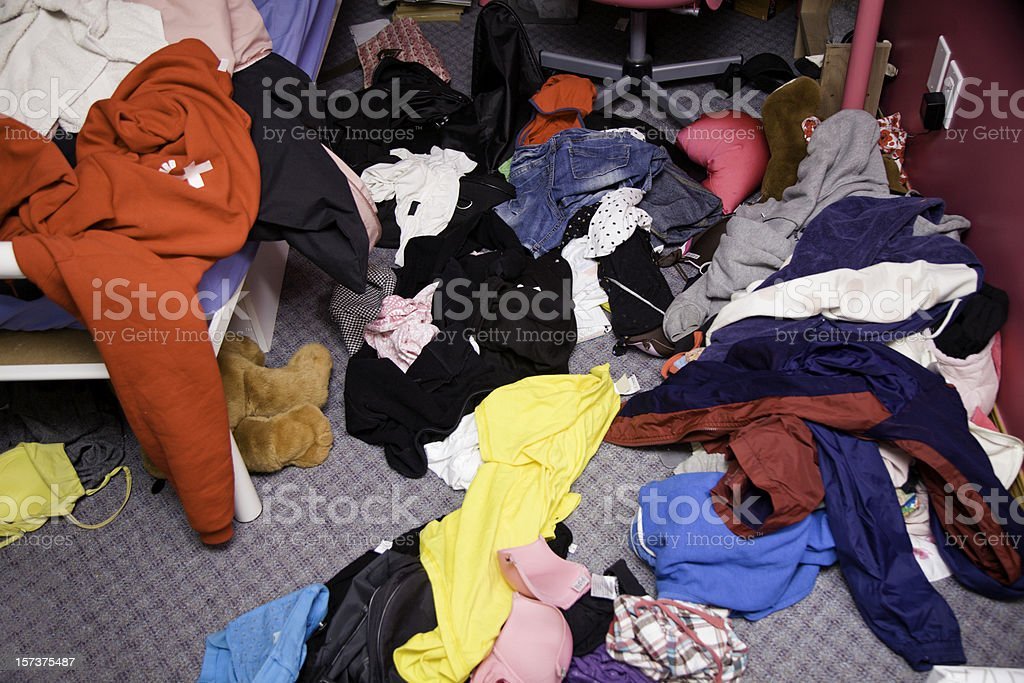 Messy Teenager Room royalty-free stock photo