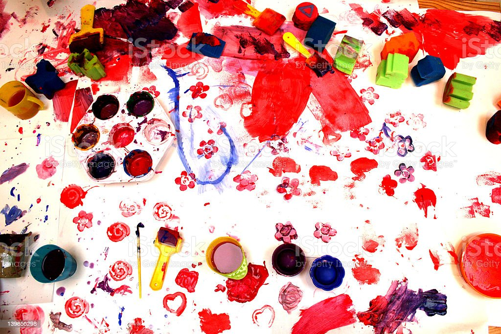 Messy Time stock photo