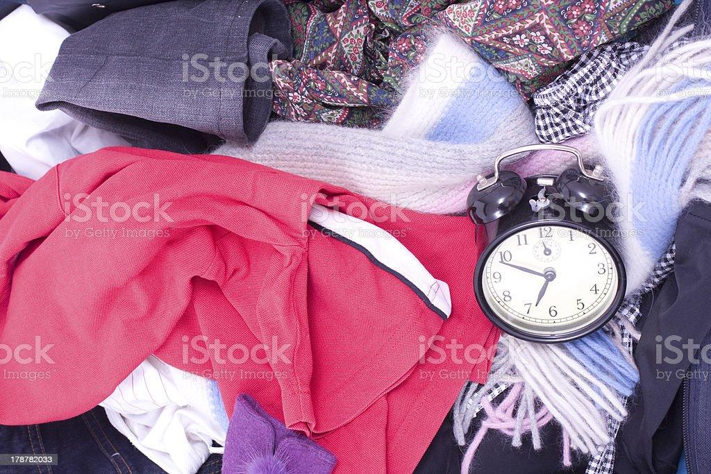 Messy travel bag royalty-free stock photo