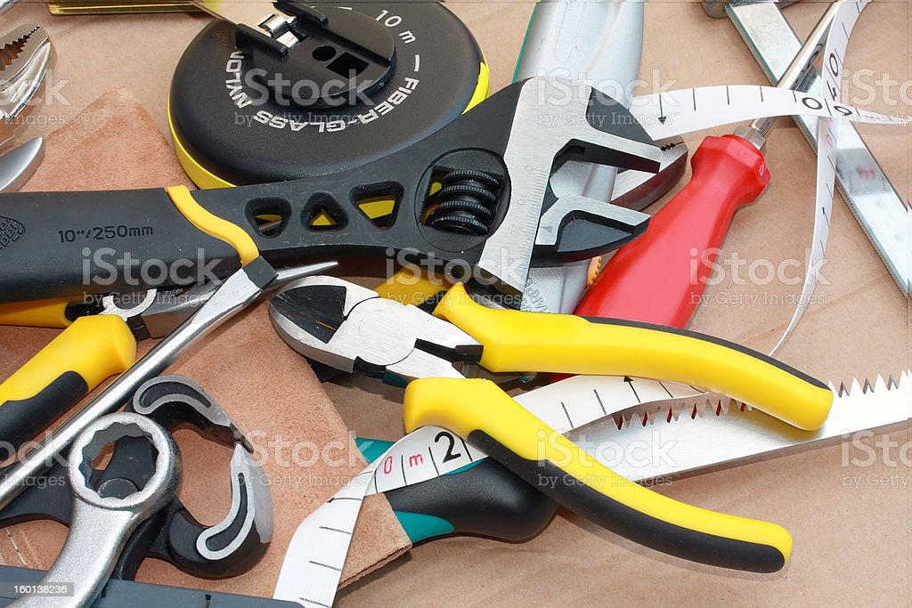messy work tools royalty-free stock photo