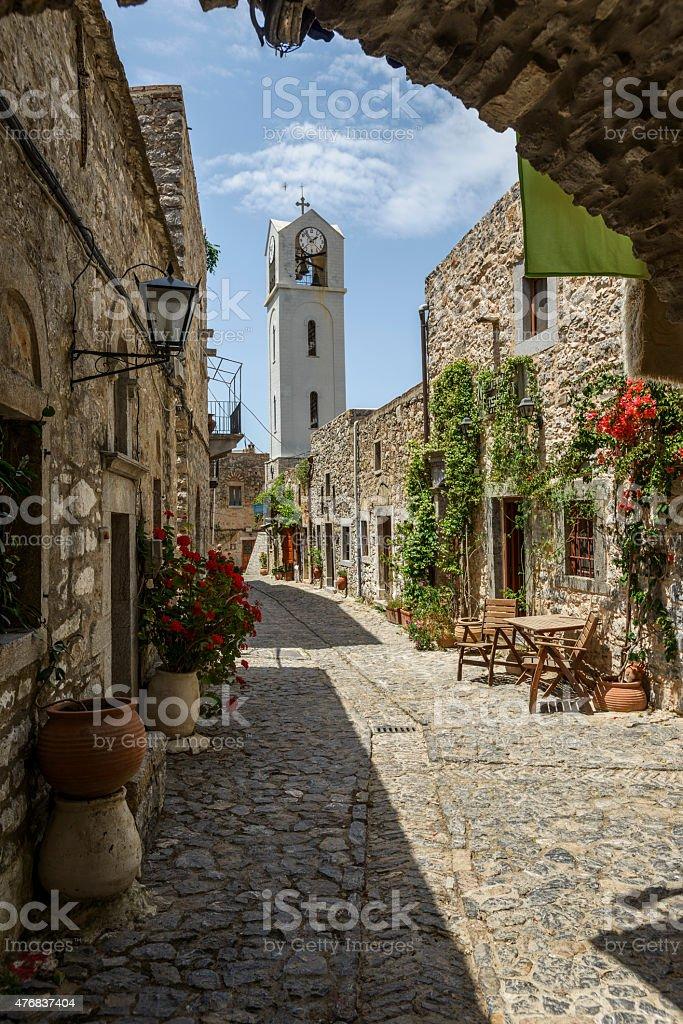 Mesta, Chios, Greece stock photo