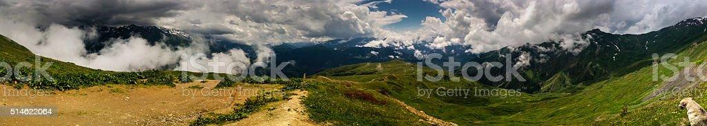 Mestia Mountain Panorama stock photo