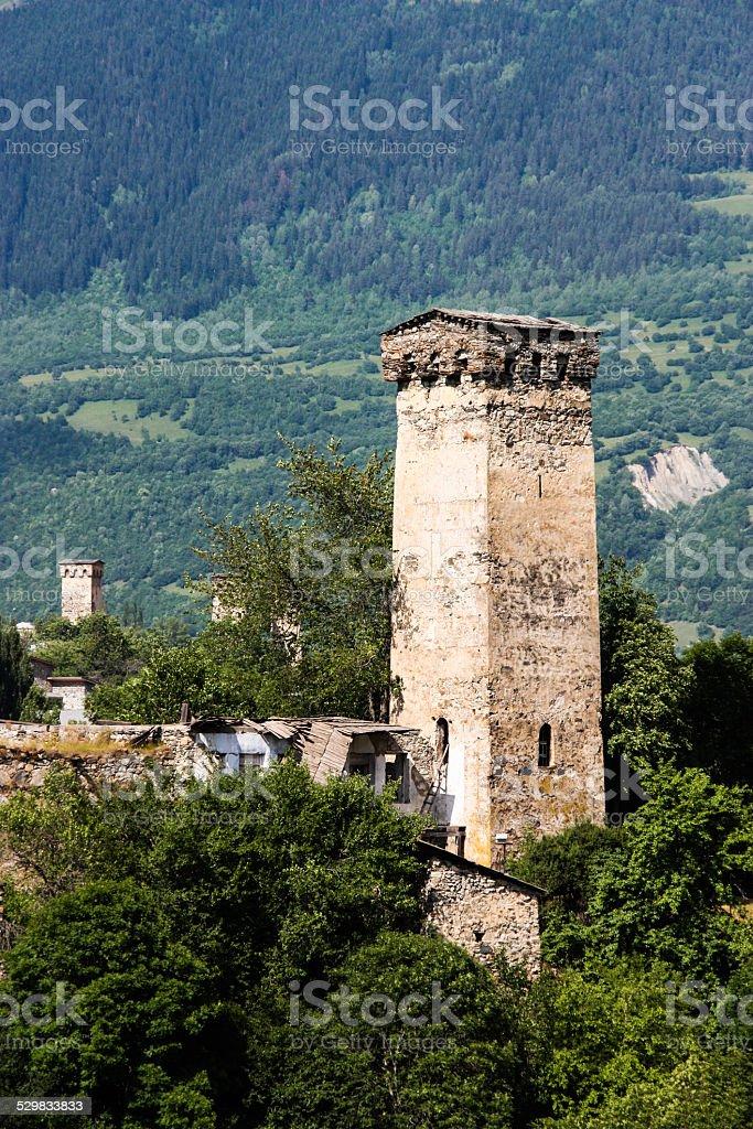 Mestia Towers stock photo