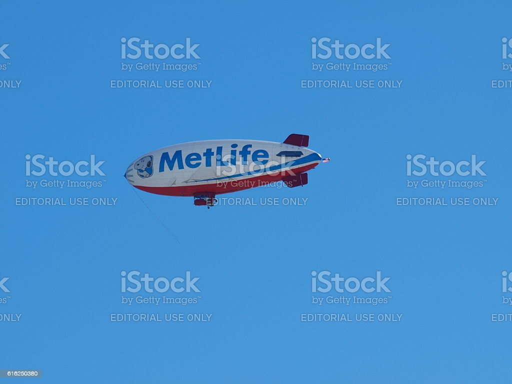 Met Life Blimp Snoopy stock photo