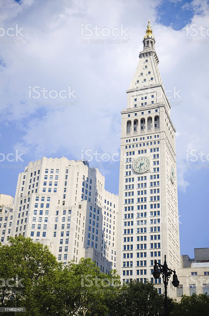 Met Life Tower In New York City stock photo