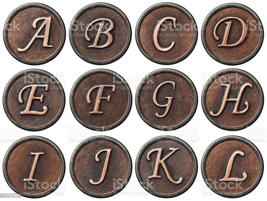 Metal abc royalty-free stock photo