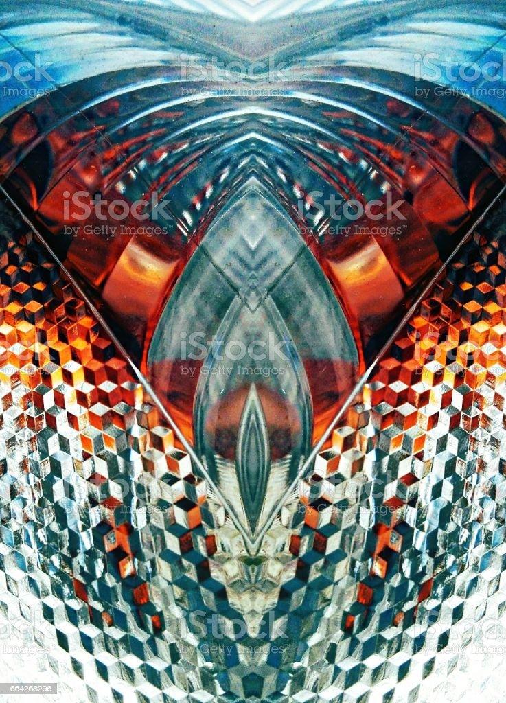 Metal Abstract Mandala Floral Patterns stock photo