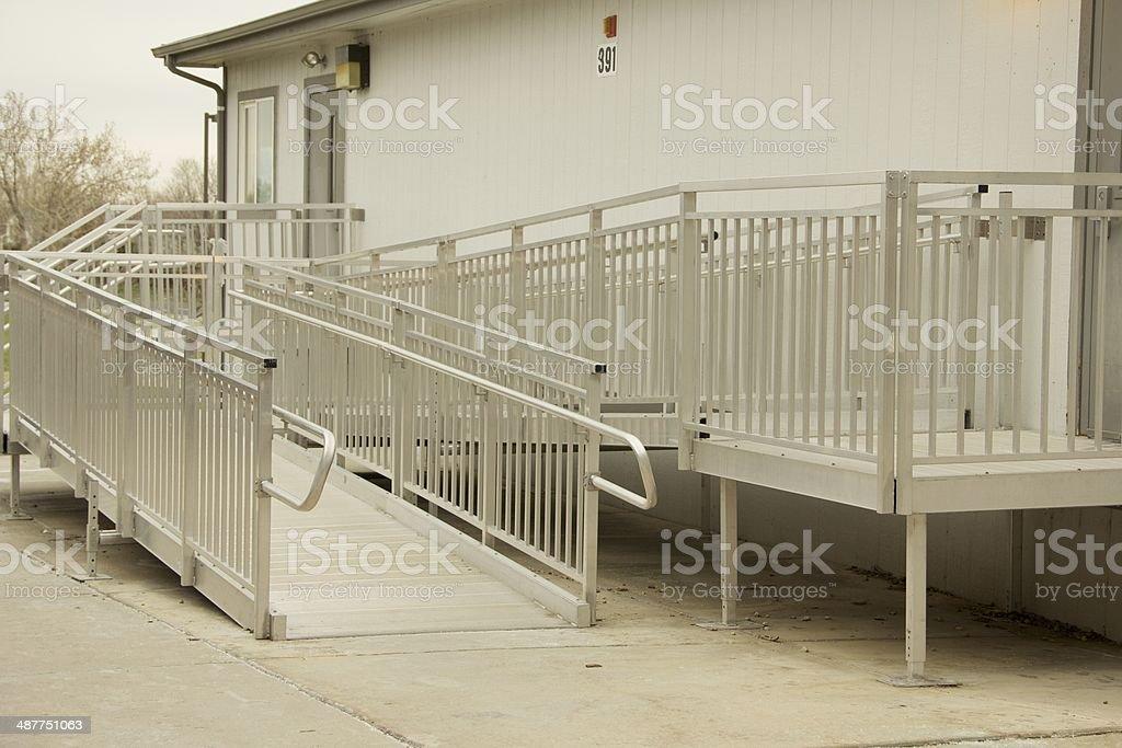 Metal Access Ramp stock photo