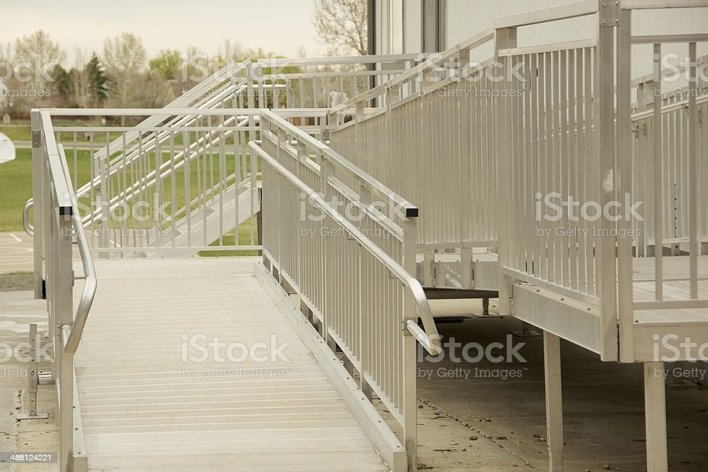 Metal Accessibility Ramp stock photo