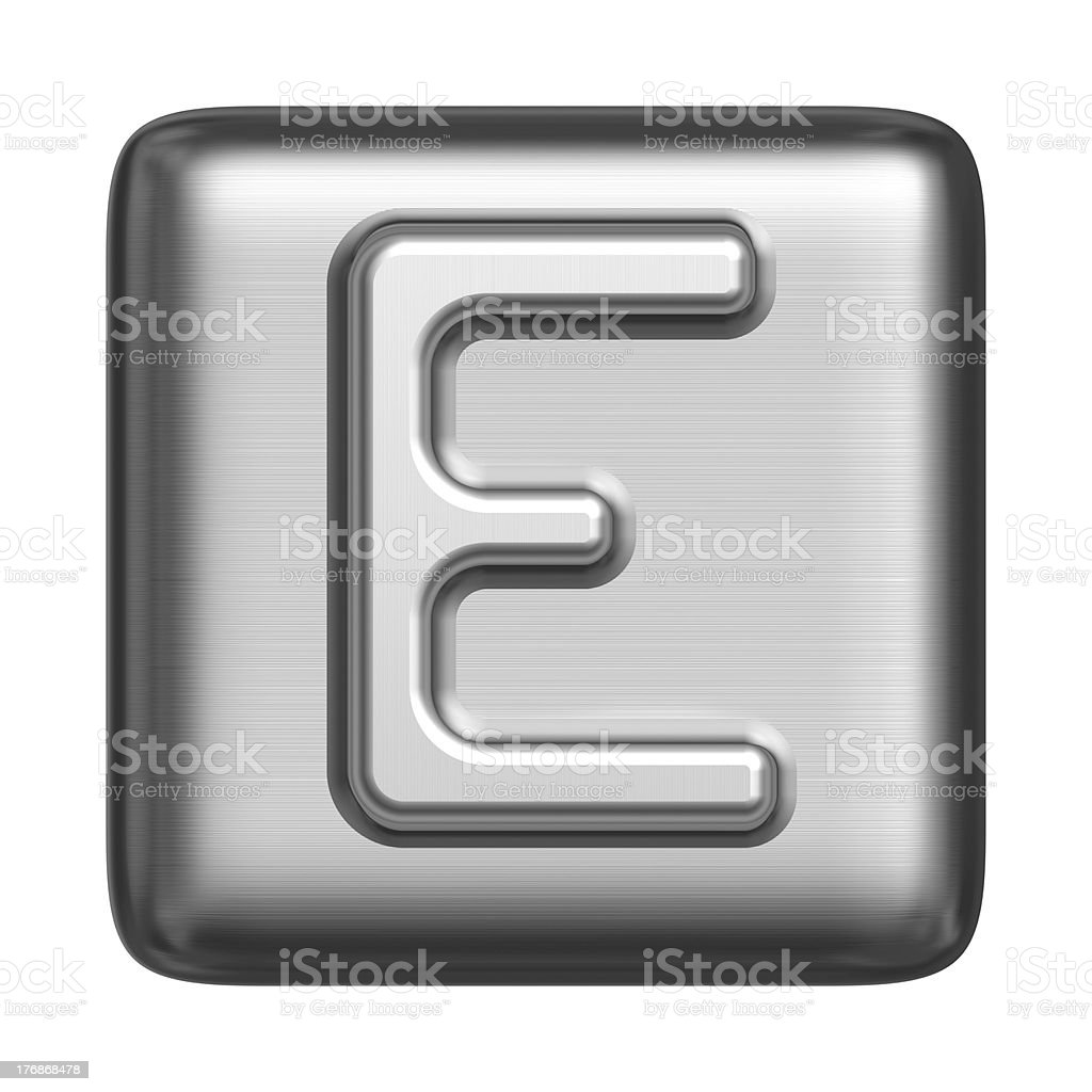 Metal alphabet in the form of a cliche royalty-free stock photo