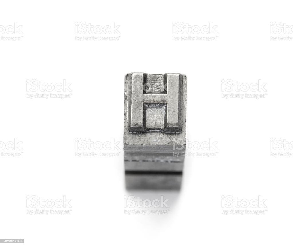 Metal Alphabet letter English a to z stock photo