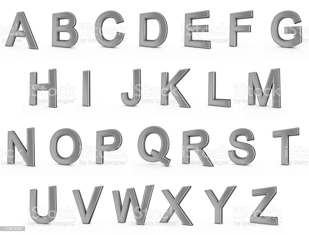 metal alphabet royalty-free stock photo