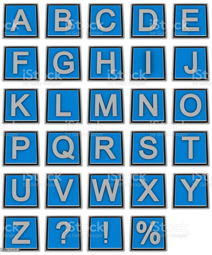 Metal Alphabet royalty-free stock photo